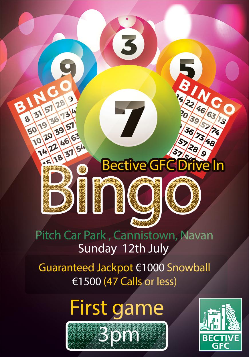 Beep Beep  – Drive In Bingo – July 12th at 3pm